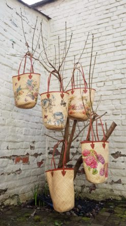 bakuls rattan tote bag on tree