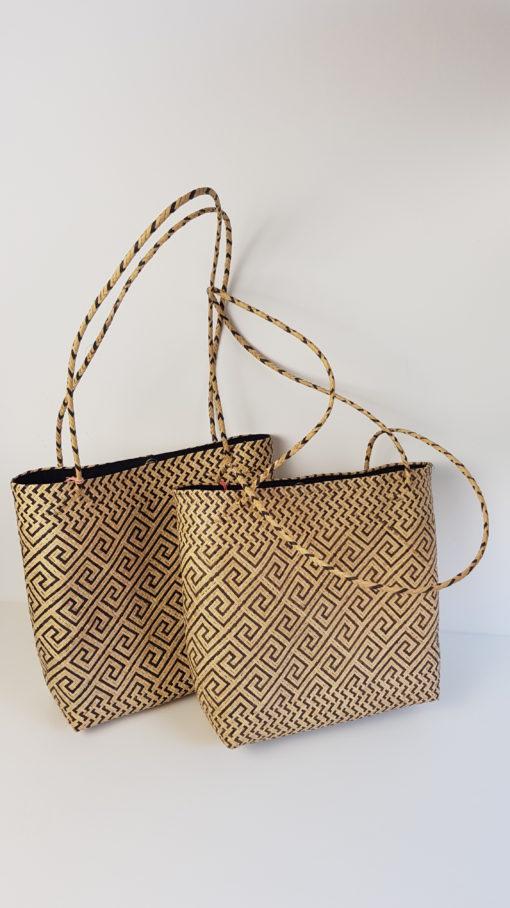 two borneo monochrome tote bag
