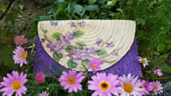 purple clutch flowers