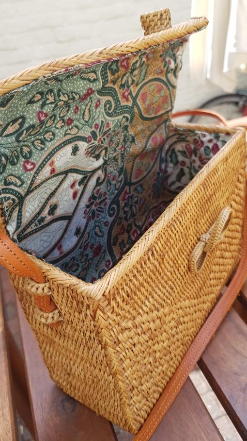 inside rattan rectangle bag