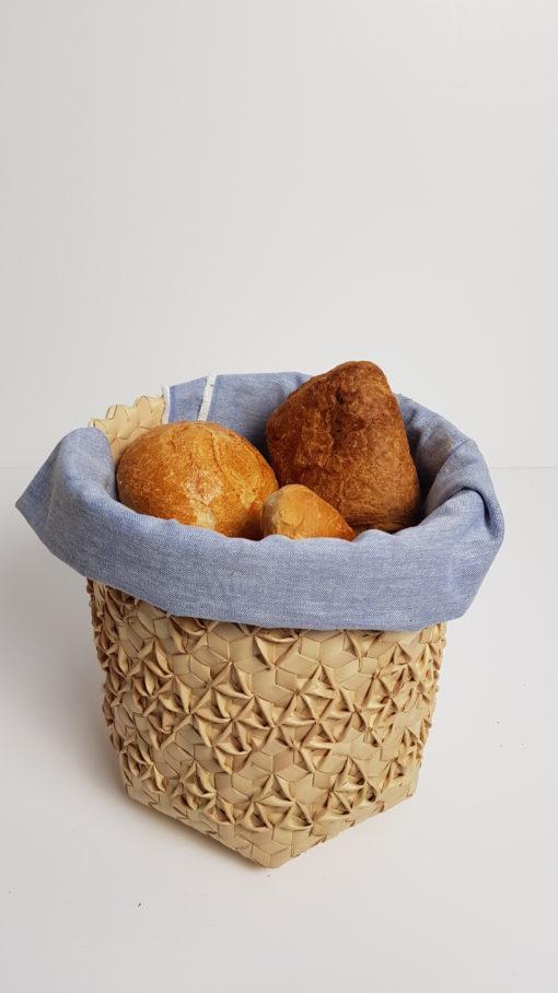 breads in baskets