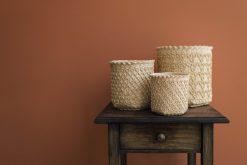 3 natural baskets