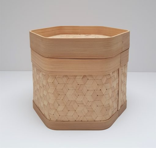 bamboo hexagon container