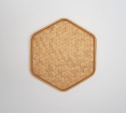 hexagonal bamboo tray