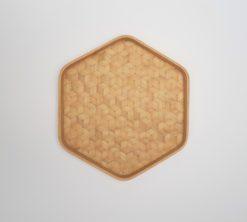 hexagonal bamboo tray