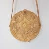 round rattan bali bag