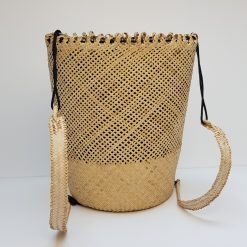 white rattan backpack