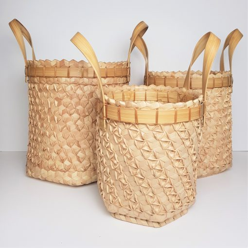 palm baskets with handle