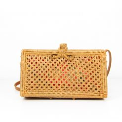 square brown bali bag