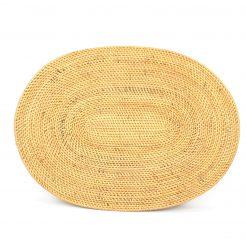 natural round bali placemats