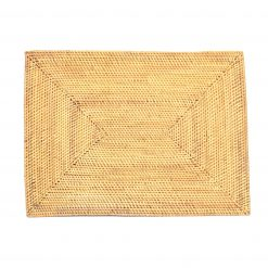square placemat rattan