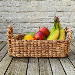 rugged waterhyacinth handmade basket