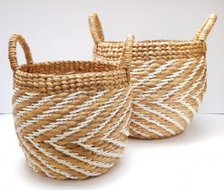 two baskets with handle