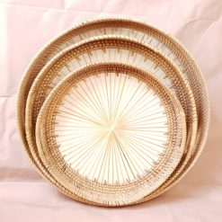 round rattan trays